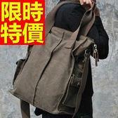 手提包-好搭實用大容量可側背男帆布包2色59j68【巴黎精品】