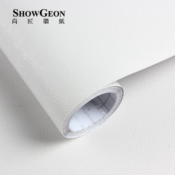 白色仿硅藻泥加厚墻紙自粘臥室溫馨背景墻顆粒壁紙水貼紙遮蓋