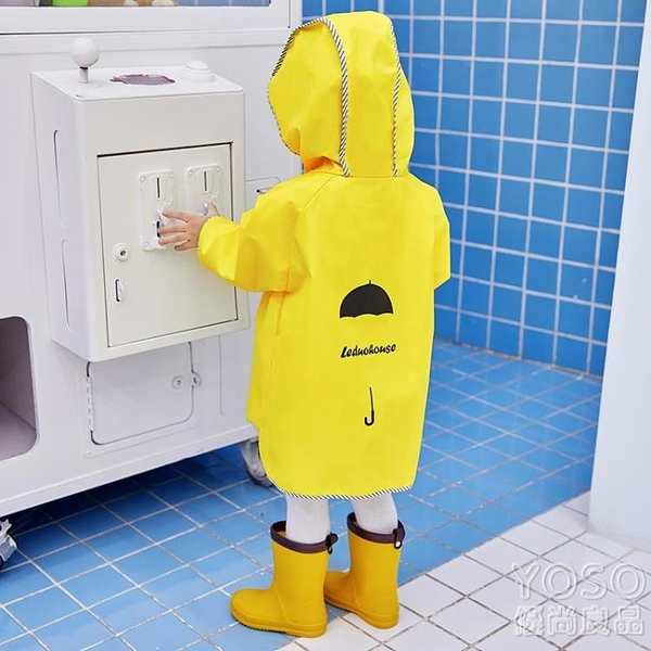 兒童雨衣男童女童幼兒園寶寶時尚雨披可愛小孩子 快速出貨