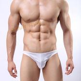 男 內褲 低腰 個性自我亮色性感三角褲(白色)L號『歡慶雙J』