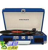 [美國直購] Crosley CR8005D-BL 藍色 手提箱黑膠播放機 可攜式音響 音箱 Cruiser Deluxe Portable 3-Speed Turntable