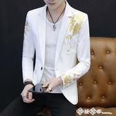 男士韓版修身西服男夏季帥氣個性小西裝夜場男裝休閑西裝薄款外套 西城故事