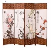 風簡易摺疊客廳養生美容院行動推拉摺屏現代簡約時尚雙面隔斷牆qm 向日葵