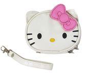 【卡漫城】 Hello Kitty 手拿包 粉 皮革材質 ㊣版 萬用袋 收納包 附掛繩 零錢包 小化妝包 凱蒂貓