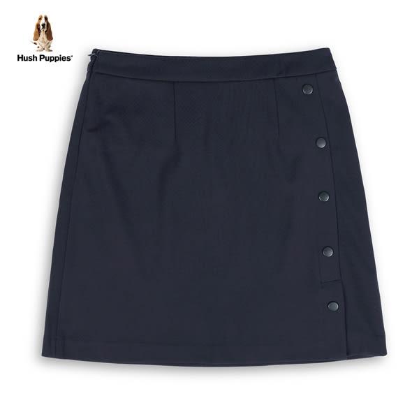 Hush Puppies 短裙 女裝側排釦開叉休閒彈性短裙