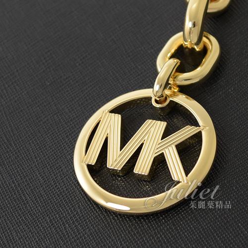 茱麗葉精品【全新現貨】MICHAEL KORS SOFIA LG MK圓形吊飾肩鍊包.黑