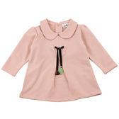 【愛的世界】刷毛娃娃領上衣/1~4歲-台灣製- ★秋冬上著