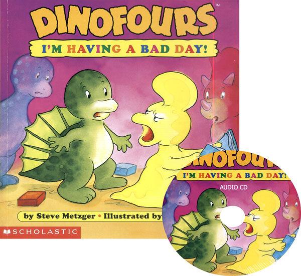 【麥克書店】I M HAVING A BAD DAY /英文書附CD《小恐龍品格繪本》