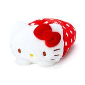 Hello Kitty抱枕 水玉點點三用變身收納抱枕+絨毛毯/靠墊/午睡毯/抱枕 [喜愛屋]