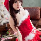 聖誕節服裝 露肩澎澎洋裝聖誕服含聖誕帽~...