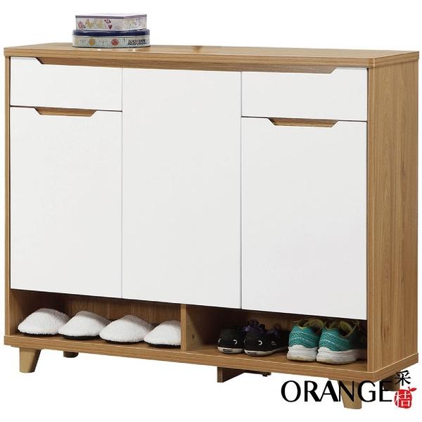 【采桔家居】妮思利 時尚3.7尺三門二抽鞋櫃/玄關櫃