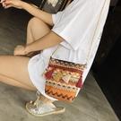 小包包2019冬季女包新款鏈條流蘇水桶包時尚民族風迷你單肩斜跨包Mandyc