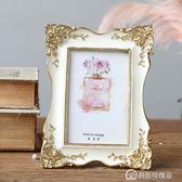 相框 收獲小屋出口法國輕奢品優雅宮廷公主風復古金邊雕花六寸歐式相框 美斯特精品