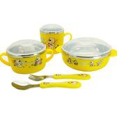 兒童餐具  嬰幼兒童訓練餐具防摔可愛米飯輔食碗勺叉套裝不銹鋼寶寶餵養  蒂小屋服飾