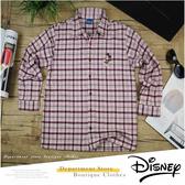 【大盤大】Disney 兒童 純棉長袖 襯衫 140cm 格紋 迪士尼 格子 休閒 百貨 專櫃 正品 MIT 小孩 童裝