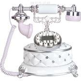 GDIDS時尚創意仿古電話機 家用歐式座機 復古老式電話機藍屏 晴川生活館NMS