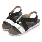 PLAYBOY 交叉鬆緊寬帶涼拖鞋-白(Y6299)