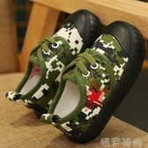 兒童帆布鞋 兒童軍綠帆布鞋春新款男童解放鞋迷彩鞋女童學生軍訓復古軍鞋 唯伊時尚