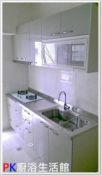 ❤ PK廚浴生活館 ❤高雄櫻花流理台 廚具 一字型流理台 白鐵台面 美耐板