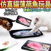 【培菓幸福寵物專營店】DYY》熱銷仿真超市買魚薄荷貓玩具盒裝蔥薑魚(回家炒給喵吃)