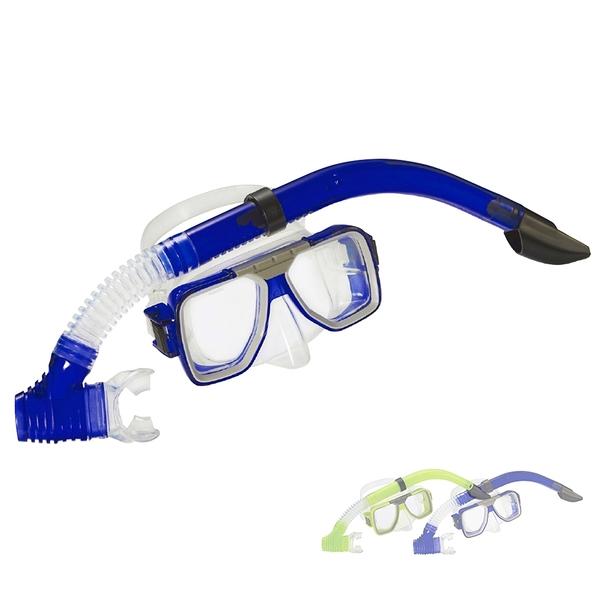 ATUNAS蛙鏡附乾式呼吸管組(歐都納/浮潛/水上用品/游泳/護目鏡/潛水/泳鏡/台灣製)