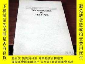 二手書博民逛書店TECHNIQUES罕見IN TESTING英語測試法(英文版)