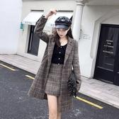 網紅潮人【現貨】女神范港味時髦洋氣套裝女秋冬時尚外套短褲兩件套N115A.8618愛尚布衣