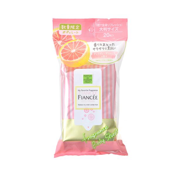 FIANCE,E粉紅葡萄柚香爽身香氛濕巾 S085 (20張)