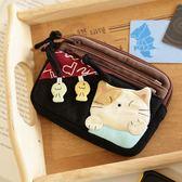 Kiro貓‧鋪棉 三層 小物包/卡片收納包/零錢包【222018】