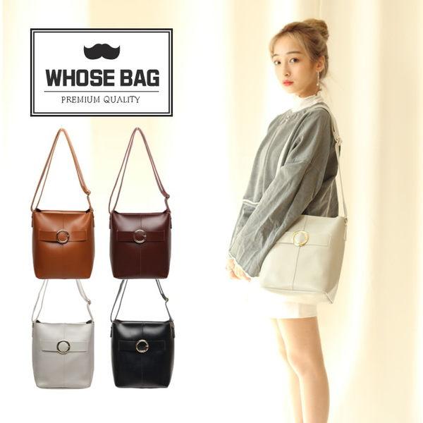 【WHOSE BAG】韓國嚴選BIG BELT皮革水桶包 NO.LM192