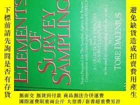 二手書博民逛書店ELEMENTS罕見OF SURVEY SAMPLING (調查