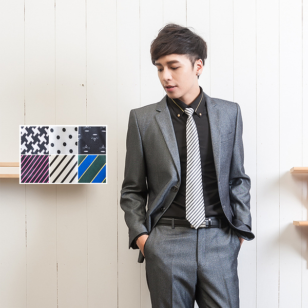 7CM窄版拉練時尚懶人領帶【Sebiro西米羅男女套裝制服】053000003