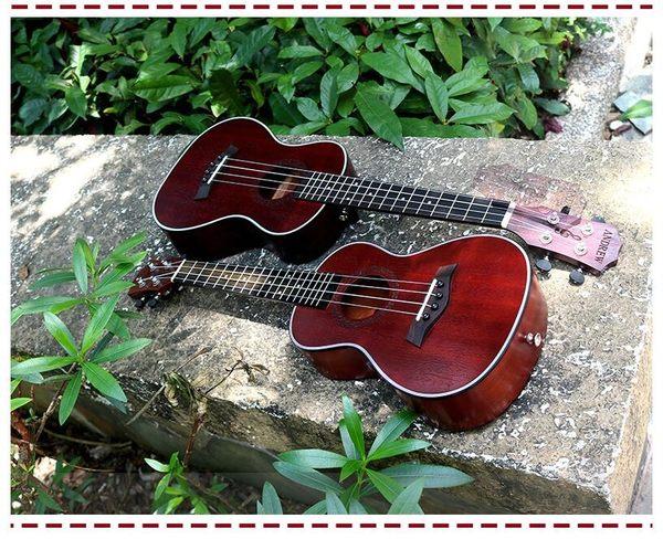 純手工全桃心木23寸尤克裏裏26寸ukulele可愛烏克麗麗新手初學(26吋-902+配件) -炫彩腳丫折扣店
