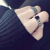 戒指韓國設計復古多層纏繞食指開口潮人百搭個性男女戒指【叢林之家】