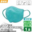 聚泰 聚隆 3D立體成人醫療口罩 (蒂芬妮) 10入/盒 (台灣製 CNS14774) 專品藥局【2019613】