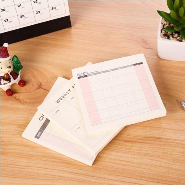 文具【PMG016】韓國文具工作記事表 週曆 週計畫 計畫表 日計畫表 記事本 辦公文具-123ok