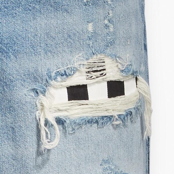 [買1送1]Levis 男款 牛仔短褲 / 上寬下窄 541 寬鬆舒適版型 / 貓鬚大破壞 / 格紋補丁