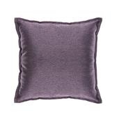 HOLA 素色織紋抱枕50x50cm深紫色