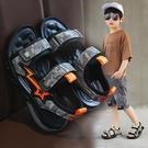 男童涼鞋 小男孩夏季寶寶鞋子兒童鞋軟底小童男童涼鞋新款男中大童防滑-Ballet朵朵