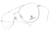SEROVA 光學眼鏡 SC082 C2 (銀) 純鈦眼鏡框 #金橘眼鏡
