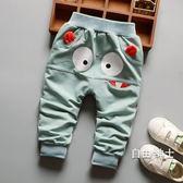 男寶寶春秋褲子男童嬰兒薄款大PP褲0-1-2-3歲小童棉質長褲可開檔(免運)