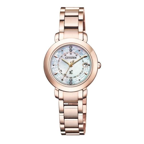 CITIZEN星辰 Eco-Drive  限量商品  真鑽光動能電波鈦金屬腕錶 ES9444-50X 玫瑰金