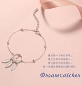 飾悟銀飾原創新款捕夢網手鏈女韓版簡約個性學生閨蜜銀手鏈女純銀