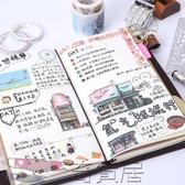 旅行手帳本子復古隨身筆記本文具皮日記本活頁a5創意記事手賬本