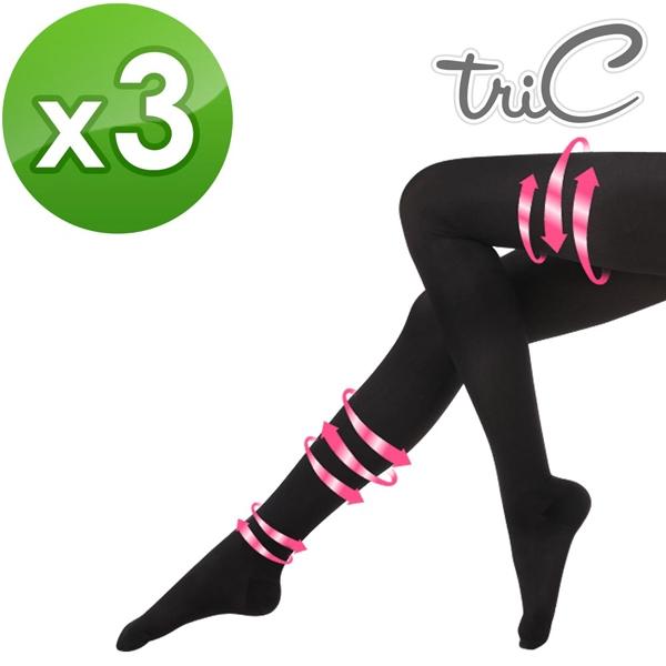 【醫碩科技】Tric 280Den*3 台灣製造 黑色包趾 壓力褲襪 三雙