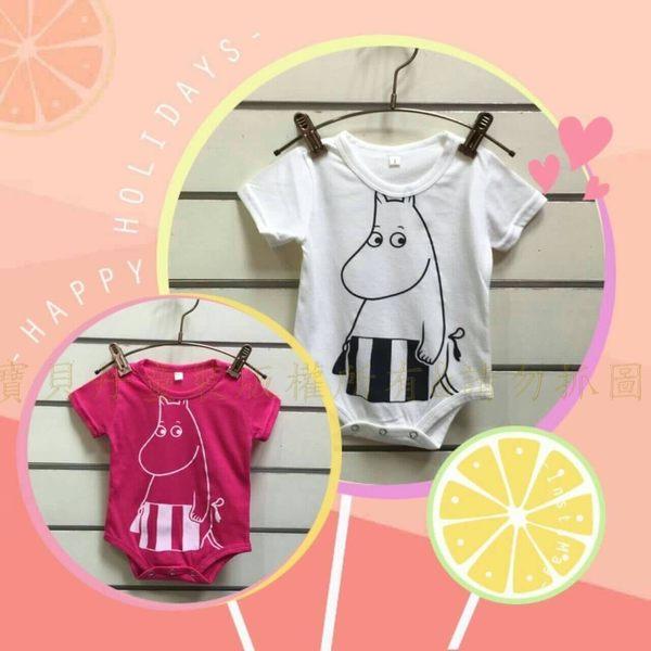 ☆╮寶貝丹童裝╭☆ 台灣製造 男女寶寶 短袖純棉 活肩 短袖 包屁衣 連身衣 新款 現貨