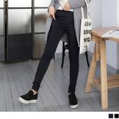 OB嚴選《BA2895-》內刷毛修身縫線素色彈性窄管褲.2色--適 S~XL