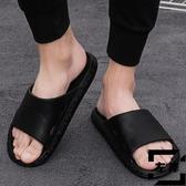 拖鞋男夏時尚潮流外穿室外涼拖防滑軟底一字拖【左岸男裝】
