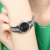 CASIO卡西歐格紋錶帶黑面腕錶 不鏽鋼錶帶【NEC117】