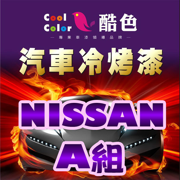 NISSAN 裕隆汽車專用-A組,酷色汽車冷烤漆,各式車色均可訂製,車漆烤漆修補,專業冷烤漆,400ML